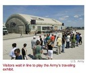 US Army Bold Recruiting Game/Exhibit Lets Kids Play Soldier