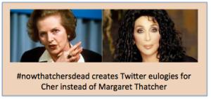 Margaret Thatcher Cher Hashtag