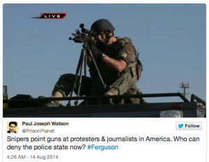 militarized police in ferguson
