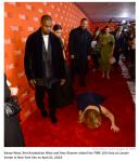 Amy Schumer Falls In Front Of Kayne West Kim Kardashian