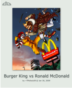 McDonald's Burger King Fight
