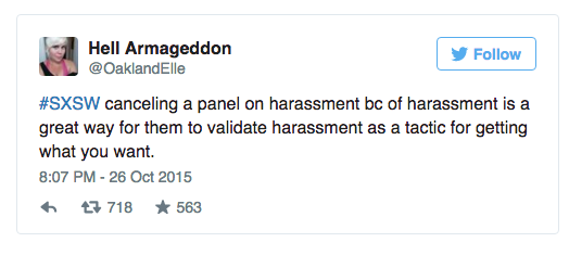SXSW Cancels Panels Gamergate
